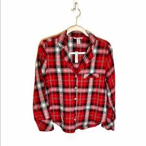 NWT Victoria's Secret Flannel Button Down Shirt